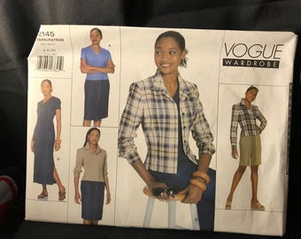 Vogue Wardrobe 2145 size 6 8 10 petite jacket,dress,top,skirt & shorts