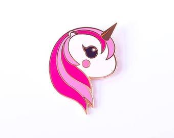 Pink Unicorn pin | Cute Unicorn pastel enamel pin badge | Unicorn lapel pin kawaii | Unicorn kawaii pin | Cute gift for her
