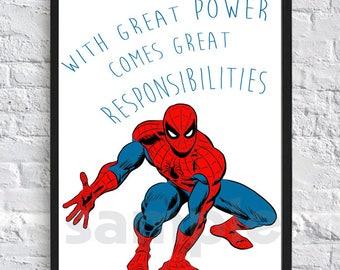 Spiderman, Marvel, Superhero, Print, Digital Download