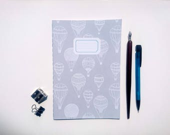 Hot Air Balloon || A5 Hand-stitched Lined Notebook