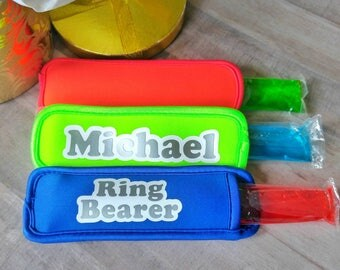 Ring bearer gift - freezer pop holder - personalized wedding - will you be my ring bearer - kids wedding - personalized kids - bridal party