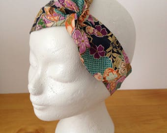 Headband, turban, headband, Japanese fabric