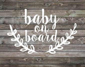 Baby on Board Sticker | Baby on Board Car Decal | Baby on Board | Baby Shower Gift | Vinyl Decal | Car Decal | Window Decal | Mom Car Decal