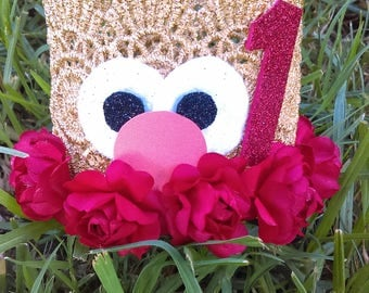 Elmo Crown, Birthday Crown, Sesame Street, Princess Crown, Elmo's World