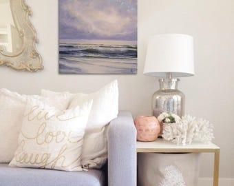 Ocean Waves Painting, Beach House Art, Coastal Landscape, Original Ocean Painting, Seascape, Ocean Art, North Carolina, Nautical Wall Decor