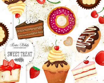 Sweets clipart, cake clipart, cupcake clipart, bakery clipart, boutique clipart, sweet treat clipart