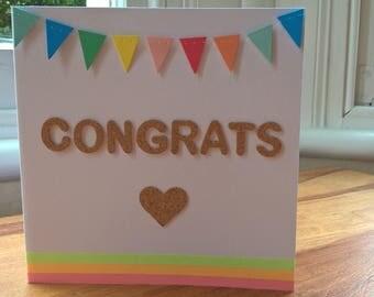 Congrats cork card