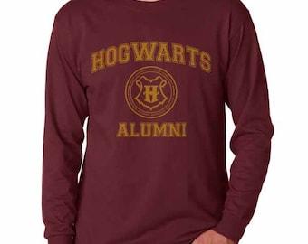 Hgwrts Alumni #2 Yellow print on Longsleeve MEN tee