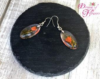 Earrings-Orange Pink-resin/earrings-Orange blossom-Acrylic
