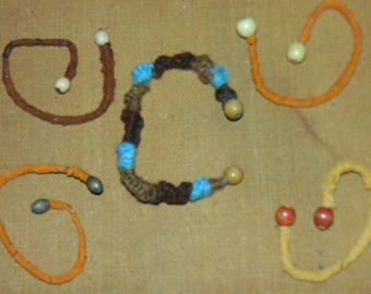 Leather Dread Tie/Bracelet