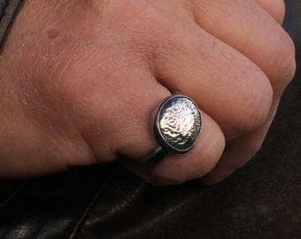 Silver Nugget Ring, Sterling Silver Ring, Unisex Ring, Men's Ring, Size 10.25 Ring, Can Be Resized