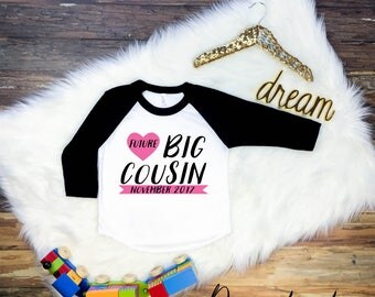 Girl Future Big Cousin Shirt, Future Big Cousin, Cousin Shirt, Cousin Shirts, Promoted to Big Cousin Shirt, Big Cousin Gift