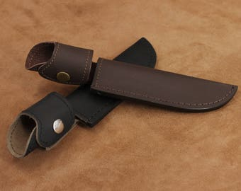 Leather Knife Sheath Knife Case Belt Sheath Hunting Knife Sheath with Belt Loop - Small