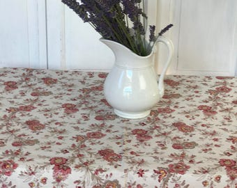 Vintage French floral piece of fabric