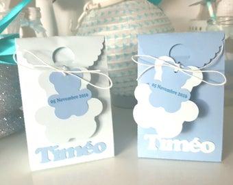 "Box dragees - christening - ""Teddy"" theme - customized"