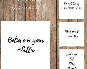 Instagram Marketing Quotes Pack   Instaquotes, Social Media Design, Social Branding, Instagram Design   Instant Download