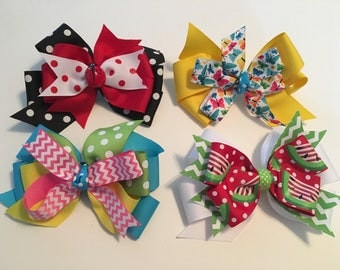 Summer Clearance Summer Bow Sale Discounted Summer Bows Six Inch Summer Bows Ships in One Day