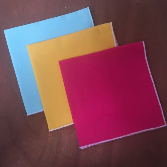 Bright Solid Pocket Squares