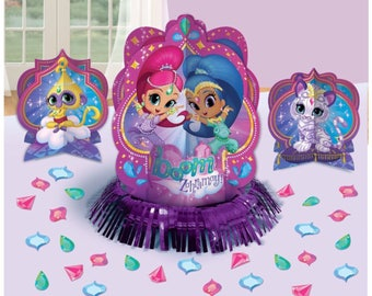 Shimmer and shine table centerpiece