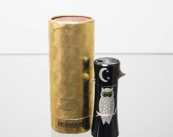 Ronson Varaflame MKII Owl Lighter