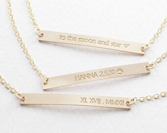 Skinny Bar Bracelet / Nameplate Bracelet / Personalized Jewelry / Bridesmaid Gift / Engraved Jewelry ( B OD 38.45 )