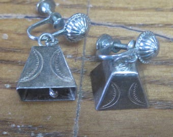 Sterling Silver Clip On Bell Earrings A-6
