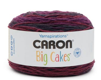 Caron Big Cakes Yarn - Cherry Compote