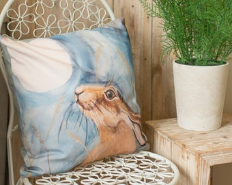 Moon Gazing Hare Cushion