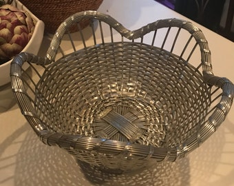 Unique woven metal basket