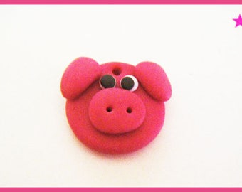 Pig bead ♥ ♥ polymer clay