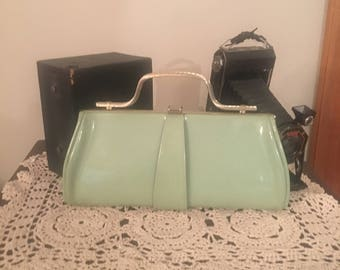 Vintage Purse, Patent Leather Clutch