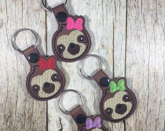 Sloth, Girl Sloth, Funny Sloth, Sloth Gift, I Love Sloths, Christmas Present, Stocking Stuffer, Teen Gift, Bookbag Charm, Birthday Present