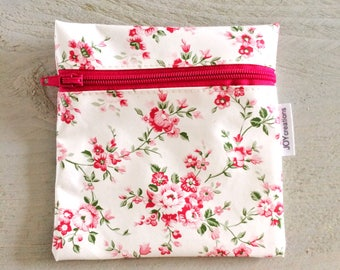 Small wallet pink flouwer