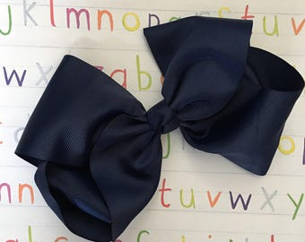 Navy Uniform Bow - 8 inches