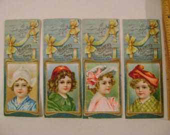 4 Vintage Mennen's Talc Bookmarks