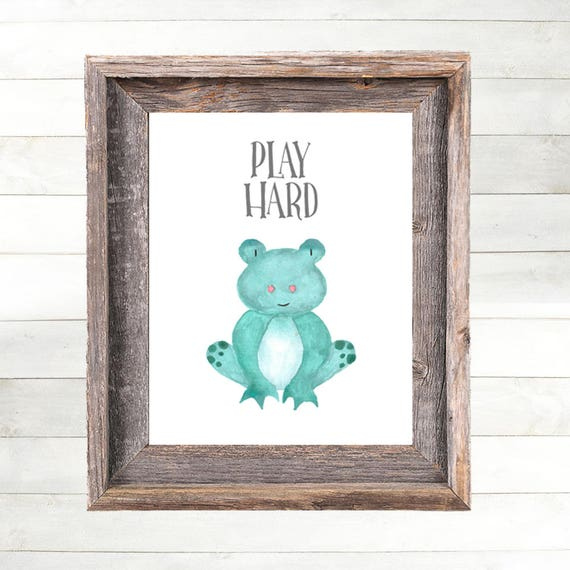 Frog Nursery Art Print, Frog Nursery Decor  Farm Animal Nursery Art, Farm Nursery Print,  Country Nursery Art, Farmhouse Nursery Art Print