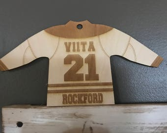 Personalized Wooden Hockey Jerseys