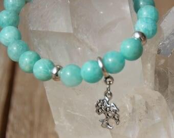 amazonite tree of life charm Bead Bracelet