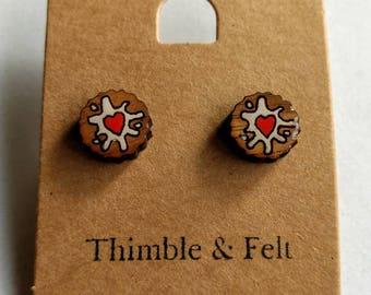 Jam Fancy Biscuit stud earrings