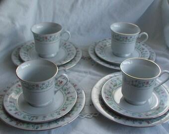 Vintage Tienshan China Tea Set Floral Design