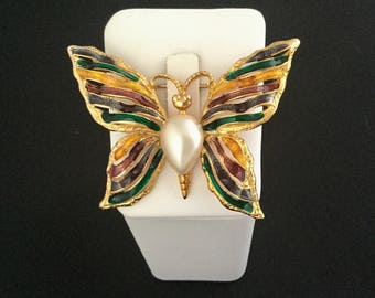 FERNANDO ORIGINALS signed Butterfly Brooch