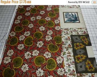 """20% Off Winterthur Museum Reproduction Print for Andover Fabrics: Multiple Floral Motifs Pre-Printed Patchwork - 100 Percent Cotton - 23.5"""""""