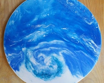 Original Resin painting on board - Vortex -  Inspired by Mineral Photography - Resin Art