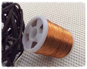 Copper coloured wire coil
