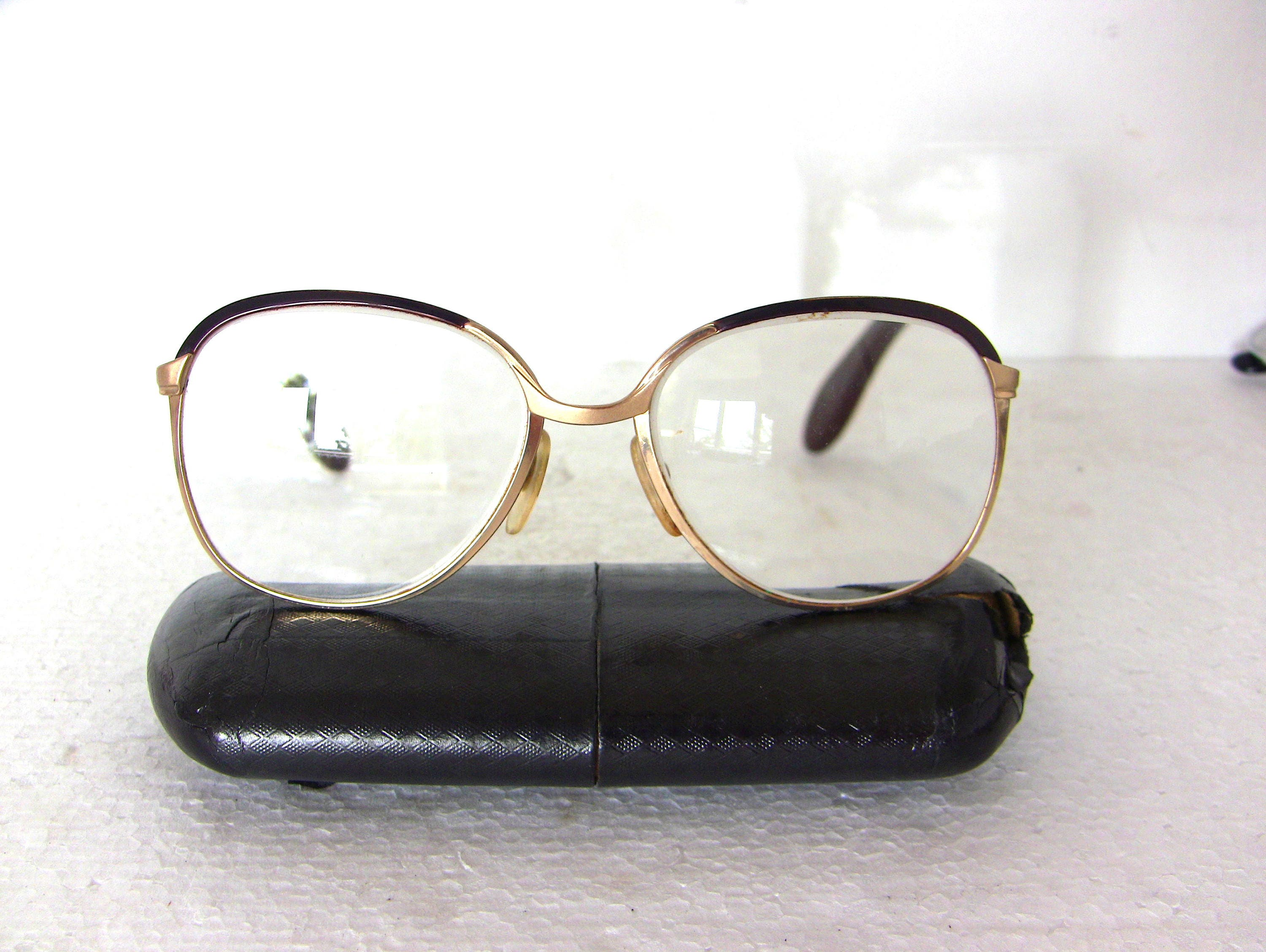 68ad9587cb71 Optura Round Vintage 80 s Eyeglasses Gold Plated Medium Size Frame FREE  SHIPPING Women s Prescription Glasses Rx