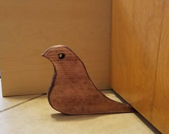 Wood Bird doorstop