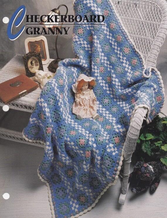 Abuela de tablero de ajedrez, colcha de ganchillo de Annie y patrón ...