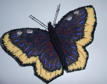 Butterfly Moth Brooch Textile Brooch Entomology gift