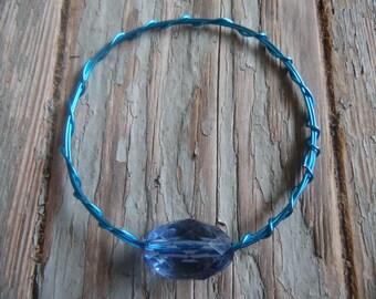 Blue Wire Bangle