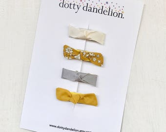 Toddler Hair Clips   Tiny Toddler Clips, Cute Toddler Clips, Tiny Hair Clips, Mustard Hair Clips, Liberty Hair Clips, Liberty of London